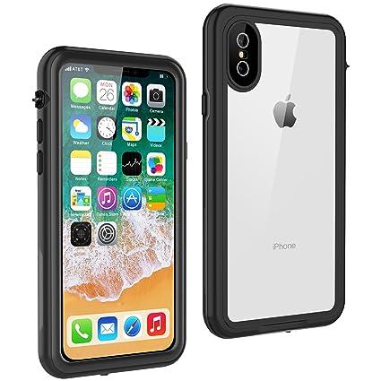 reputable site 2c94d 93194 iPhone XS Waterproof Case, iPhone X Waterproof Case, Singdo Built in Screen  Protector Shockproof Snowproof IP68 Underwater Waterproof Case for iPhone  ...
