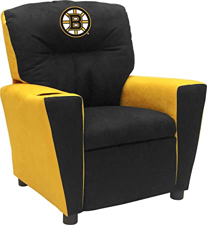 Imperial Officially Licensed NHL Furniture: Youth Fan Favorite Microfiber  Recliner, Boston Bruins