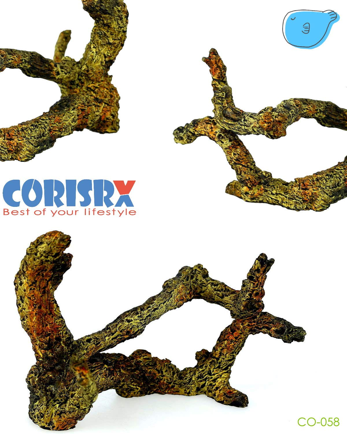 Corisrx Driftwood for Aquarium Decoration Freshwater Fish Tank Plant Shrimp Decor (CO-058) by CORISRX BEST OF YOUR LIFESTYLE