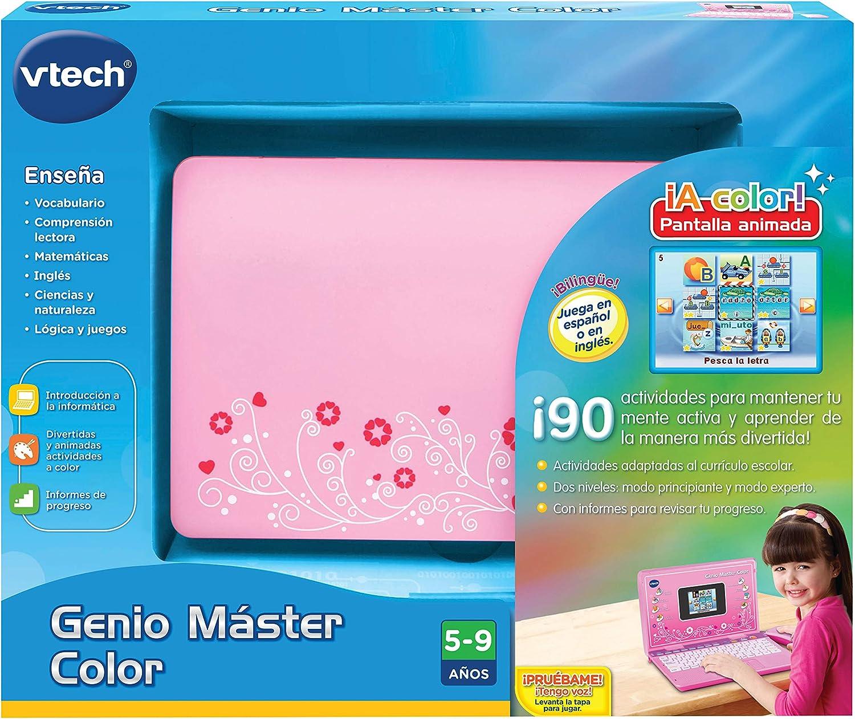Amazon.es: VTech- Ordenador Genio Master Color bilingüe Rosa, única (3480-133867)
