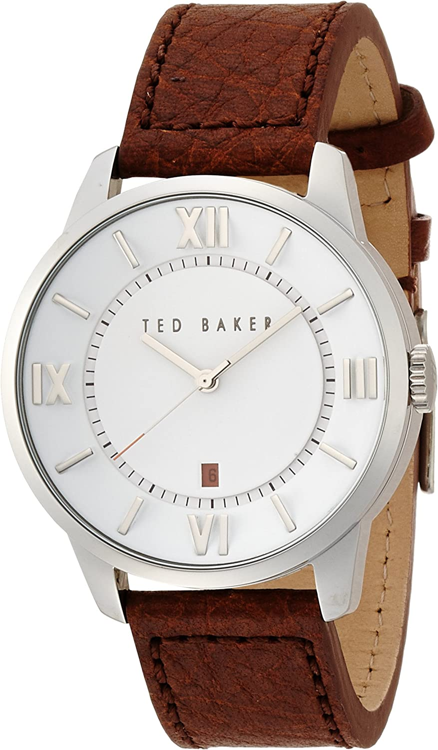Ted Baker Three-Hand Leather - Brown Men's watch #TE1118