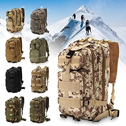 30L Outdoor Military Tactical Backpack Rucksacks Sport Camping Hiking Trekking