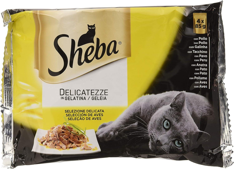 Sheba Multi Pack de 4 Bolsitas Delicatezze para Gatos de Selección ...