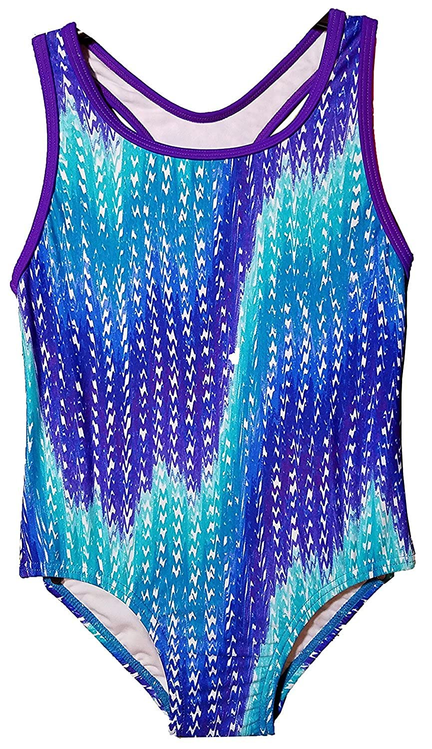Amazon.com: Speedo Big Girls Solid Infinity Splice One Piece Swimsuit (5, Blue Zig Zag): Clothing