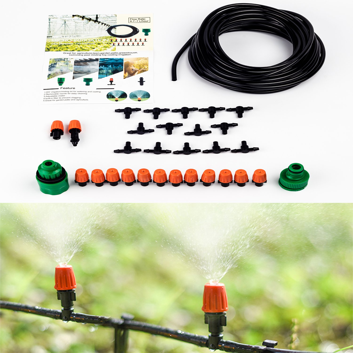 Light In Dark Improved Version Plant Irrigation Misting System Garden Patio Free Installation Book Included