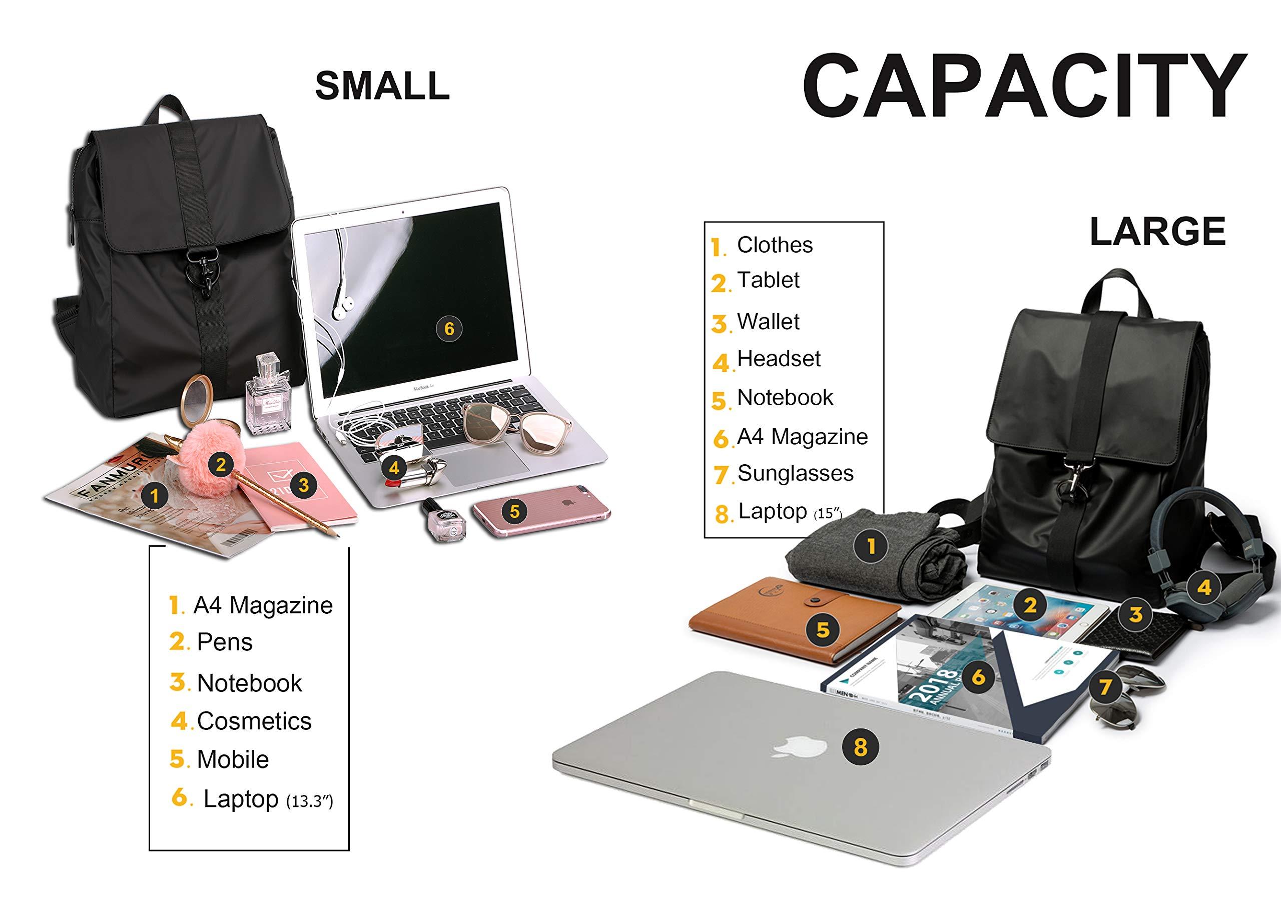 Fashion Backpack Water-Repellent Shoulder Bag Casual Daypack Rucksack (S)