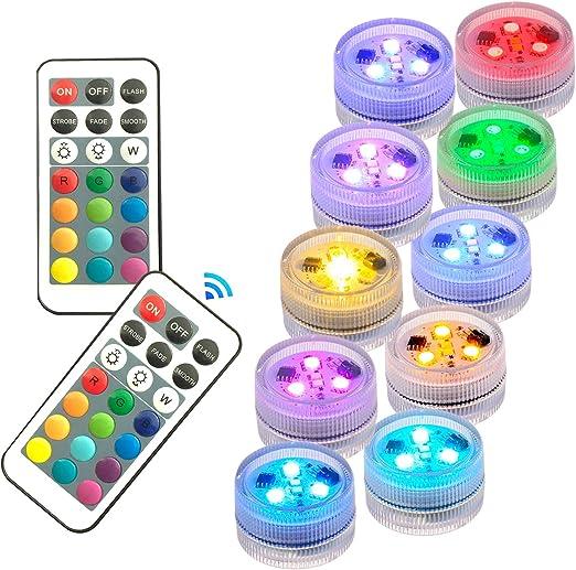 PISCINE lumière RGB DEL AMPOULE Télécommande Sous l/'eau VASE DECOR LOT DE 1