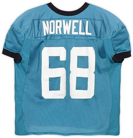 best website 62bee a2cc7 Andrew Norwell Jacksonville Jaguars Practice-Used #68 Teal ...