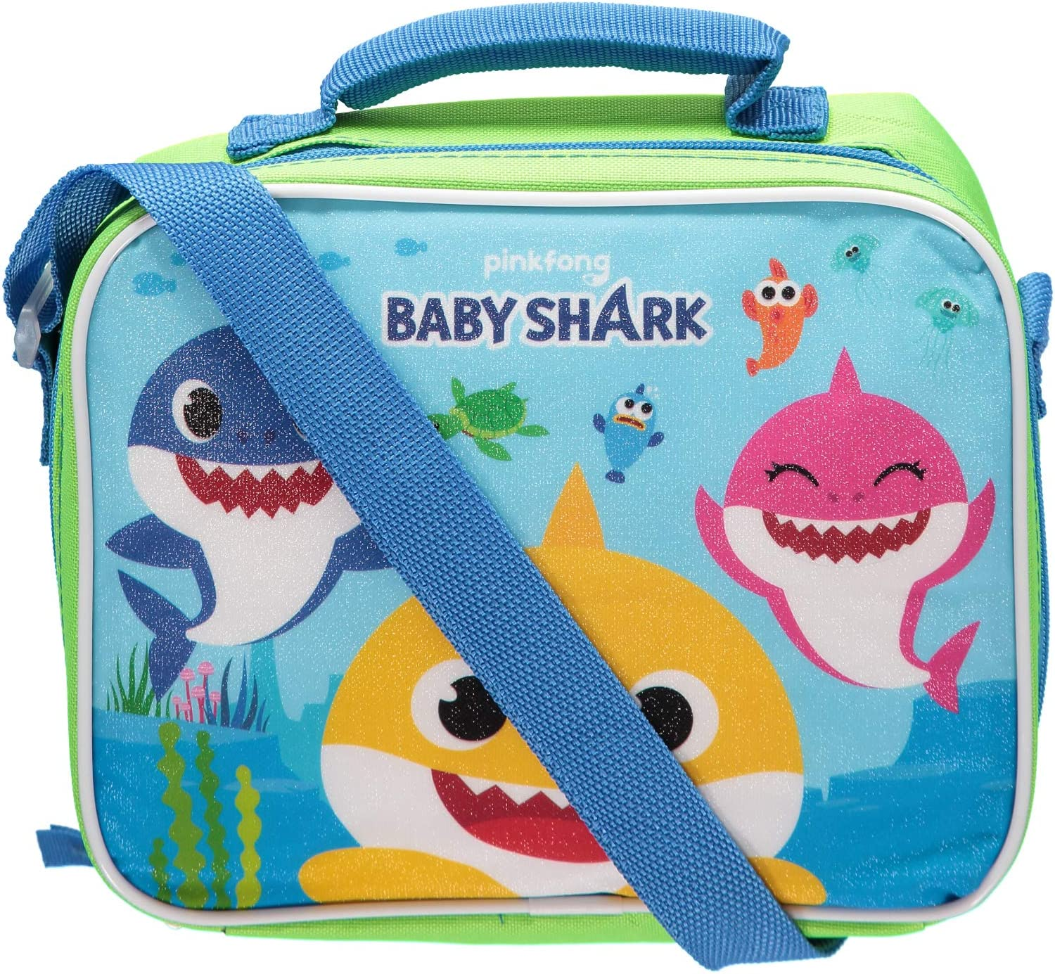 Baby Shark 3 Bag with Strap Lunch Box, small, Blue