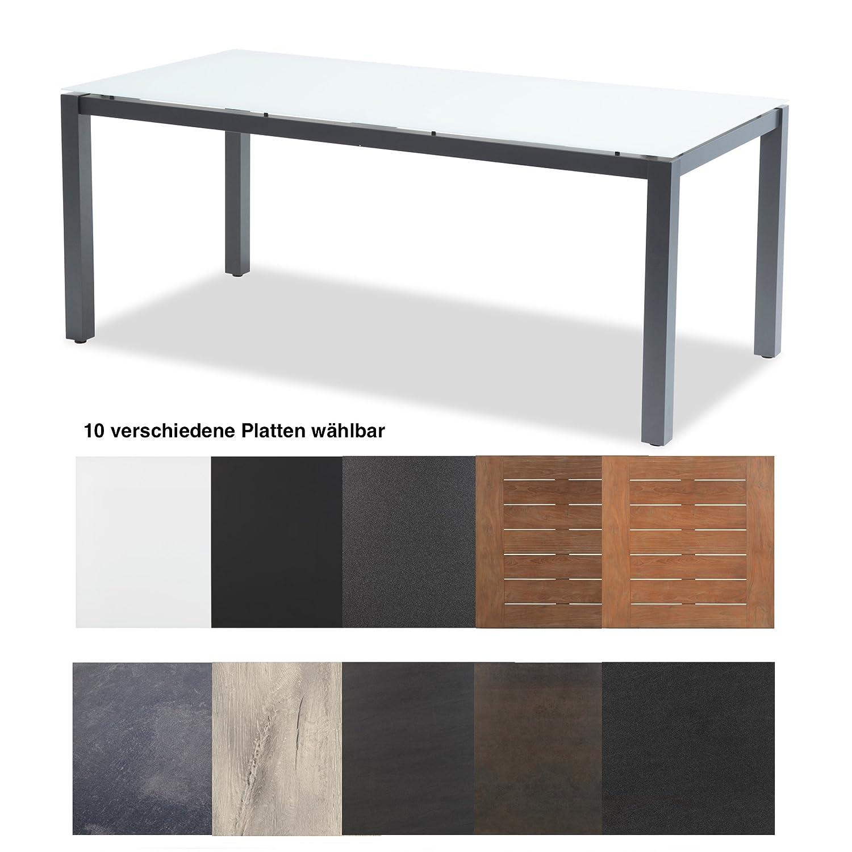 Hartman Tisch Imperial 180 x 90 cm Aluminium xerix Tischgestell Platte wählbar Recycled Teak 20 mm