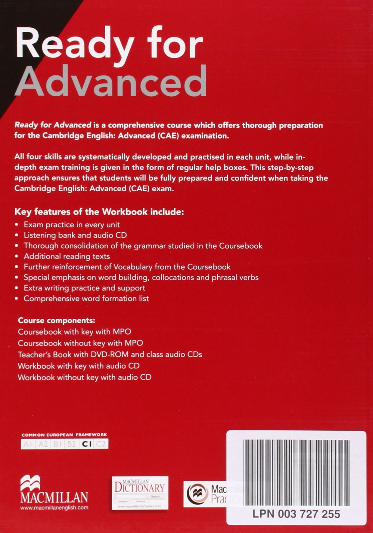 Ready for Advanced (CAE) (3rd Ed) Workbook without Key Pack: Amanda