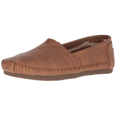 BOBS from Skechers Women's Luxe Fashion Slip-On Flat   Shoes
