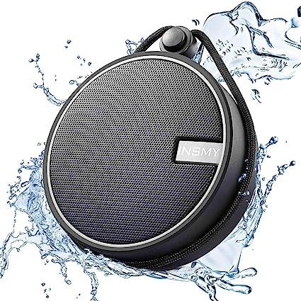 INSMY IPX7 Waterproof Shower Bluetooth Speaker