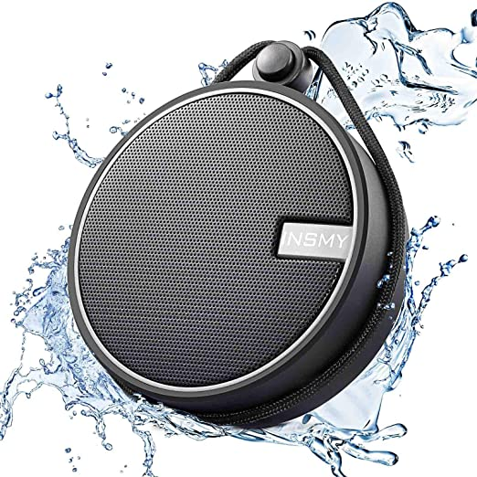 Amazon.com: INSMY IPX7 Waterproof Shower Bluetooth Speaker, Portable Wireless Outdoor Speaker with HD Sound, Support TF Card, Suction Cup for Home, Pool, Beach, Boating, Hiking 12H Playtime (Black)