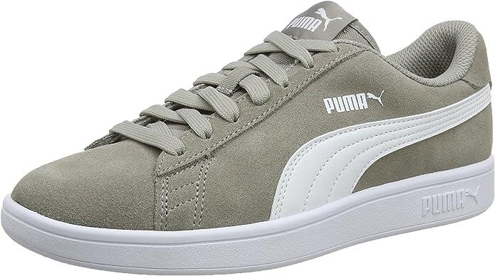 Puma Smash V2 Sneakers Unisex Damen Herren Grau Elephant Skin/Weiß