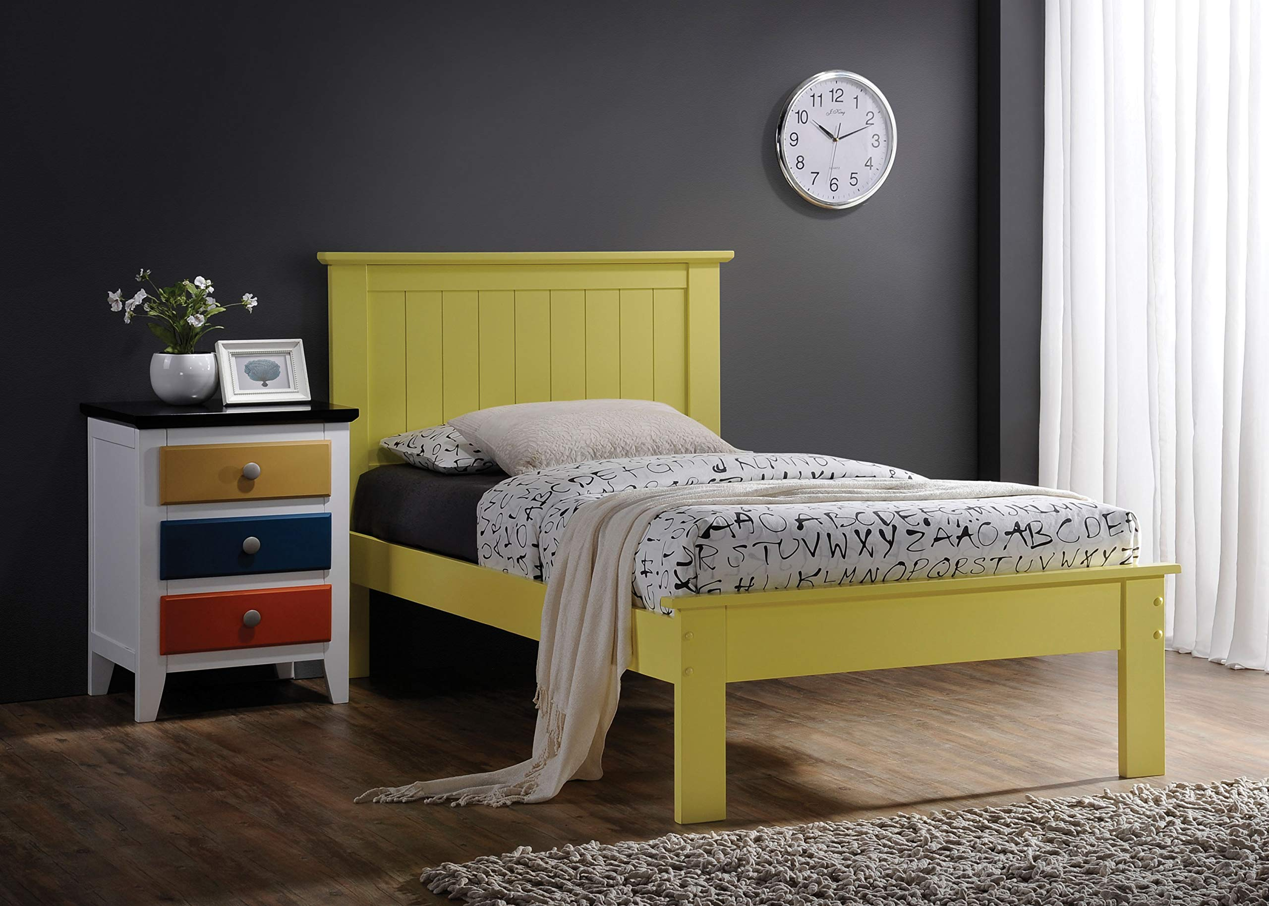Acme Furniture 25424F-R Prentiss Bed, Yellow, Full