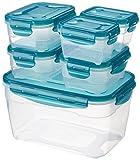 AmazonBasics - Frischhaltedosen-Set, luftdicht, 6-teiliges Set