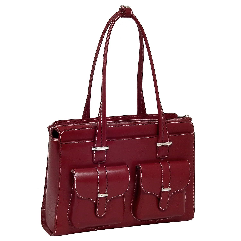 McKleinUSA 96546 ALEXIS Leather Ladies Briefcase, Red