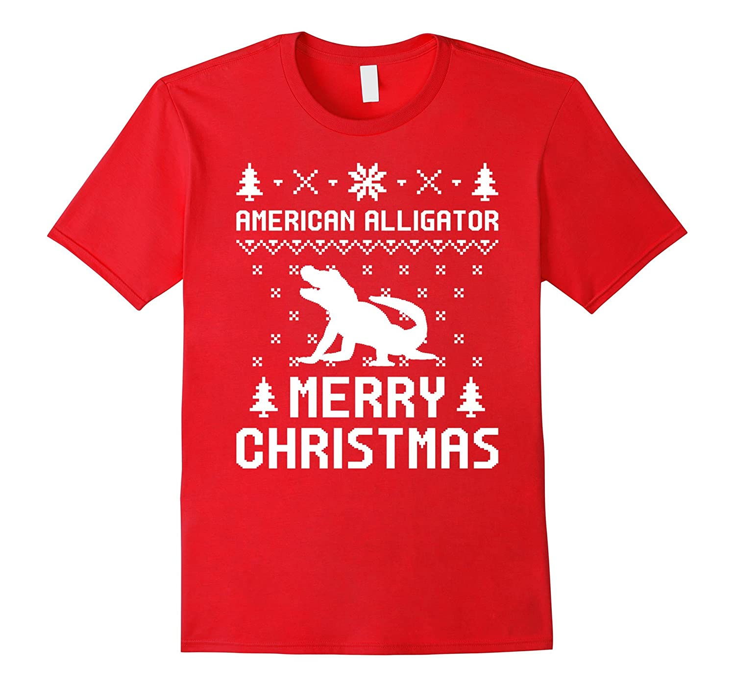 American Alligator Ugly Christmas Sweater T-shirt-AZP