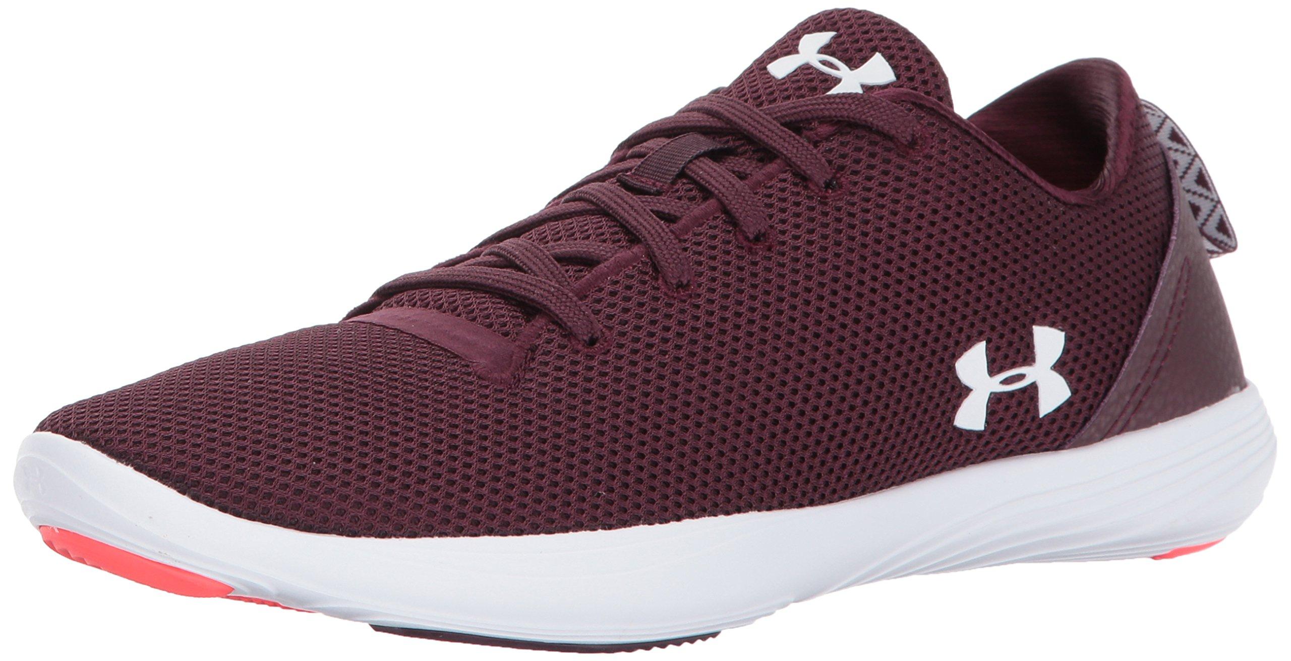 Under Armour Women's Street Precision Sport Low Neutral, Raisin Red/Raisin Red/White, 7.5 B(M) US