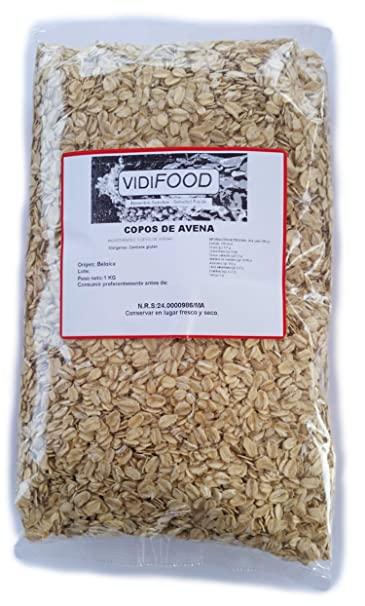 Copos de avena - 1 kg - Rica en nutrientes, vitaminas y minerales - 100