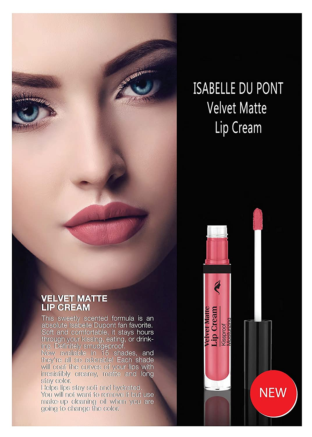 Velvet Matte Lipstick Kissproof Moisturizing Lip Cream Long Wearing Gloss By Isabelle Dupont Naked Beige Beauty