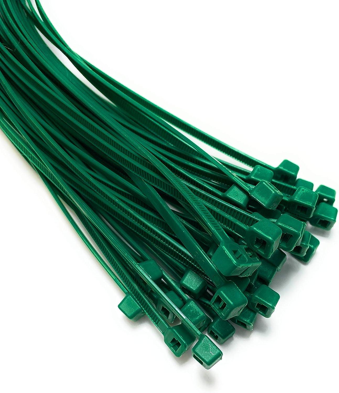 Alta calidad larga de nailon con cremallera corbatas Paquete de 20 de plata Super fuerte Bridas para cables 7,2mm x 450mm Premium Tie Wraps