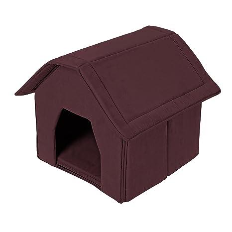 Casa de perro Leo marrón, 56 x 49 x 40cm, cabaña, casa,