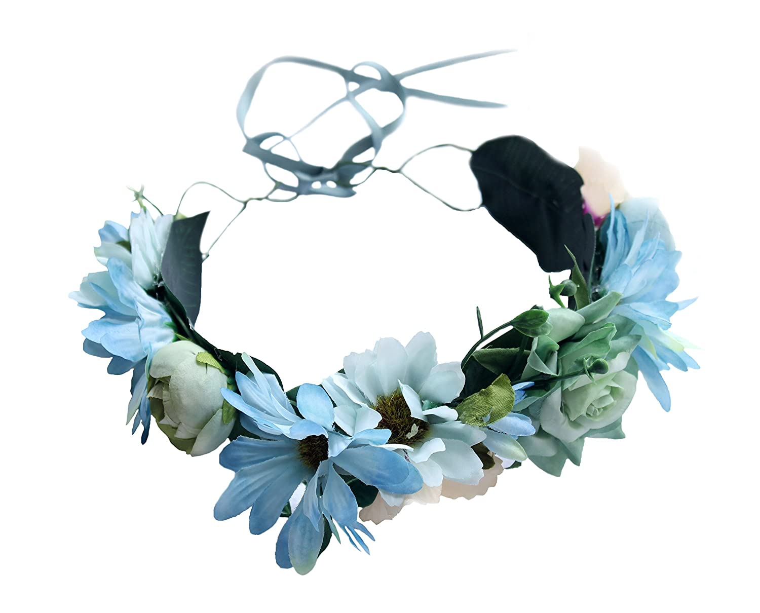 Durable Service Vivivalue Boho Handmade Flower Crown Hair Wreath