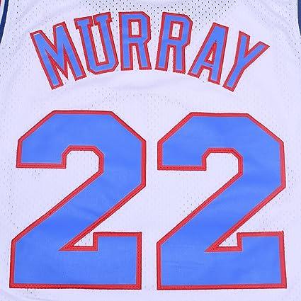 TUEIKGU Bill Murray #22 Space Movie Jersey Mens Basketball Jersey S-XXL White//Black