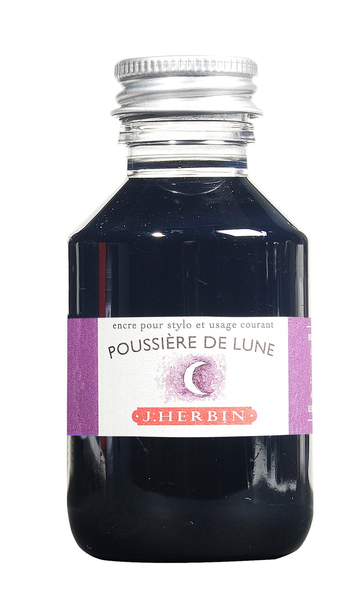 J. Herbin Fountain Pen Ink - 100 ml Bottled - Poussiere de Lune by Herbin