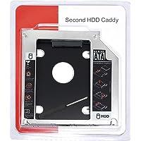SEPAL 9.5mm Unibody 2nd Bay SATA Hard Drive Caddy Tray for CD DVD-ROM Drive Slot