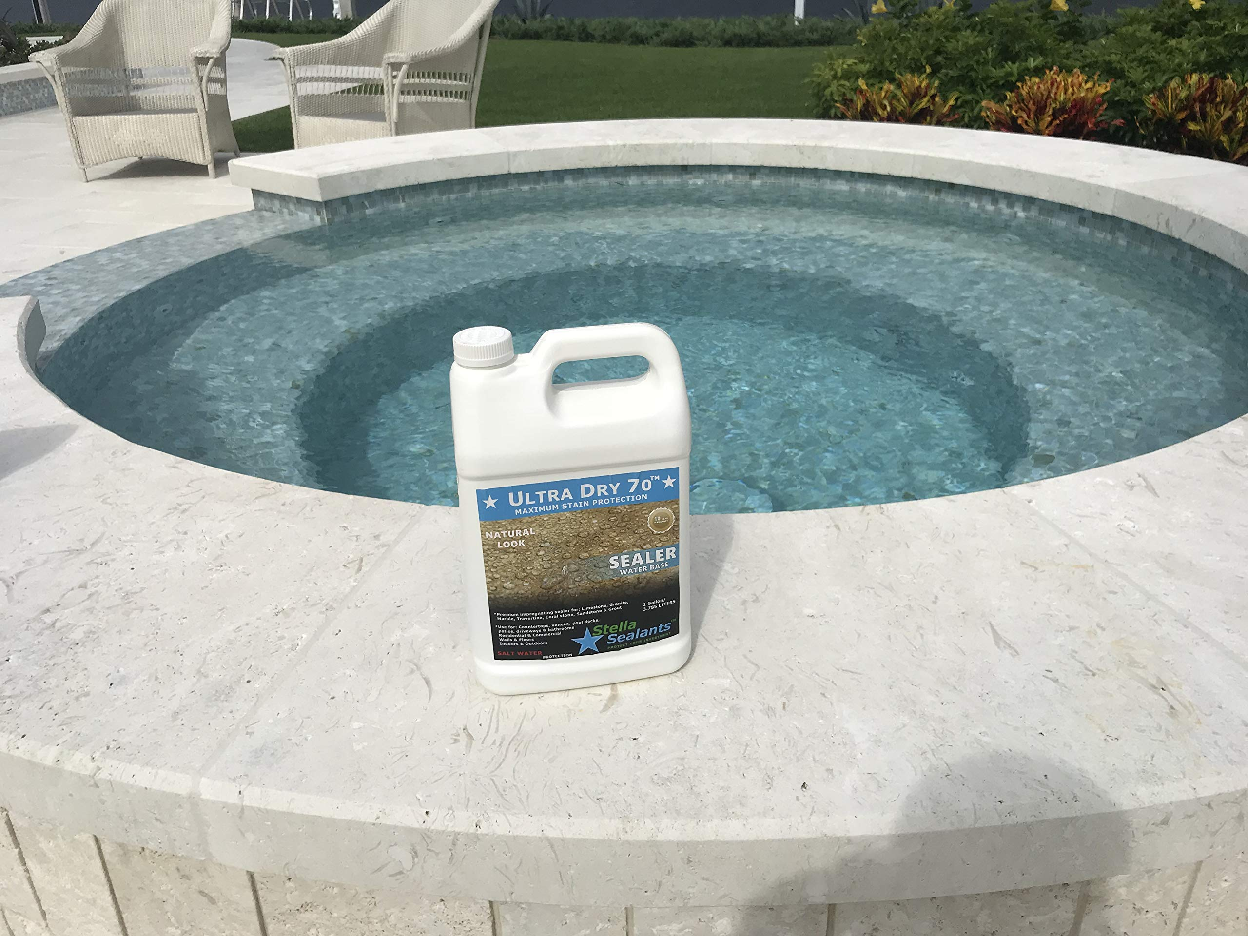 Ultra Dry 70 - Stone Sealer for Travertine Limestone Marble and Granite - Natural Look (Gallon) by Stella Sealants (Image #2)