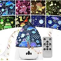 Stjärnnattlampa projektor för baby, bästa gåvor leksaker för barn, laddningsbar roterande LED-lampa med fjärrkontroll…