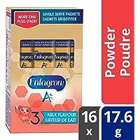 Enfagrow A+ Toddler Nutritional Drink, Milk Flavour Single Serve Powder, 18g, 16 packets