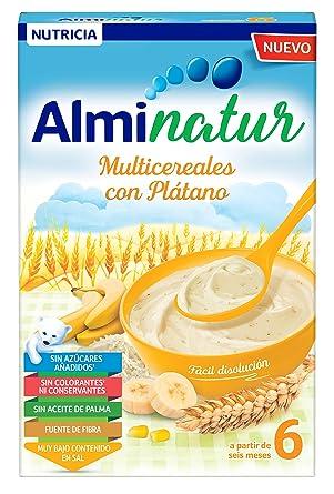 Alminatur Papilla de Multicereales con Plátano a Partir de los 6 Meses Paquete de 7 x