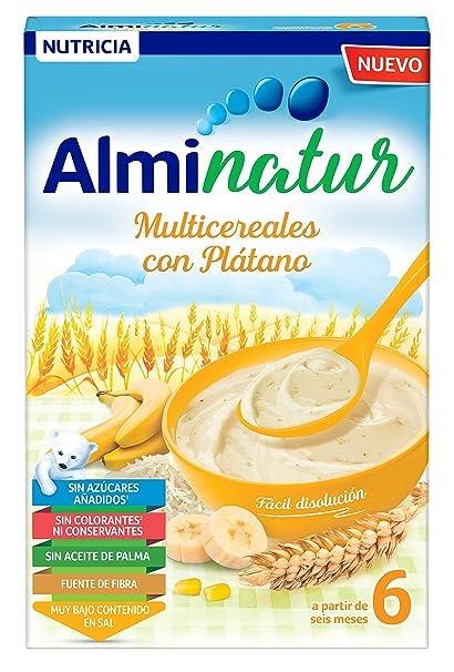 Alminatur Papilla de Multicereales con Plátano a Partir de los 6 Meses - Paquete de 7