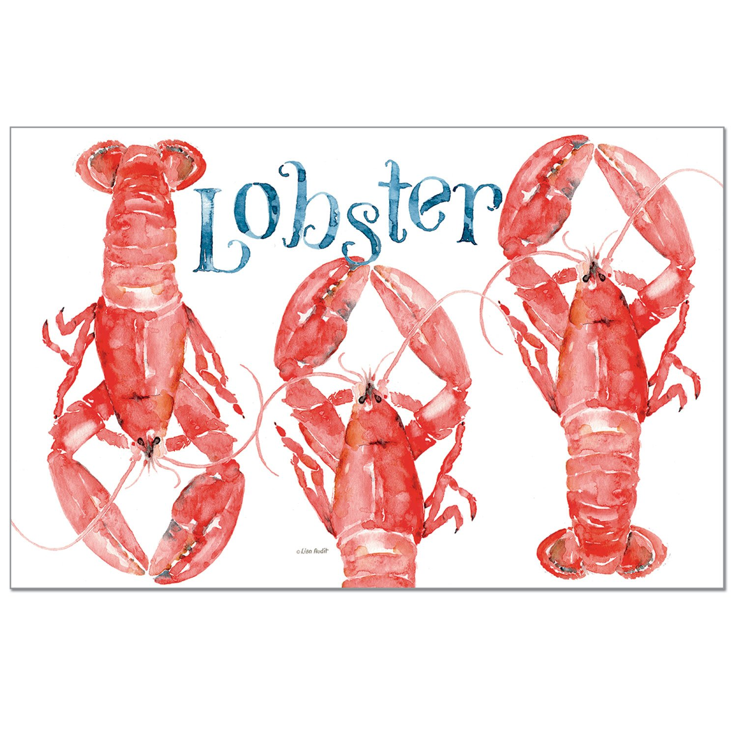 CounterArt 24-Pack Disposable Paper Placemats, Lobsters by CounterArt