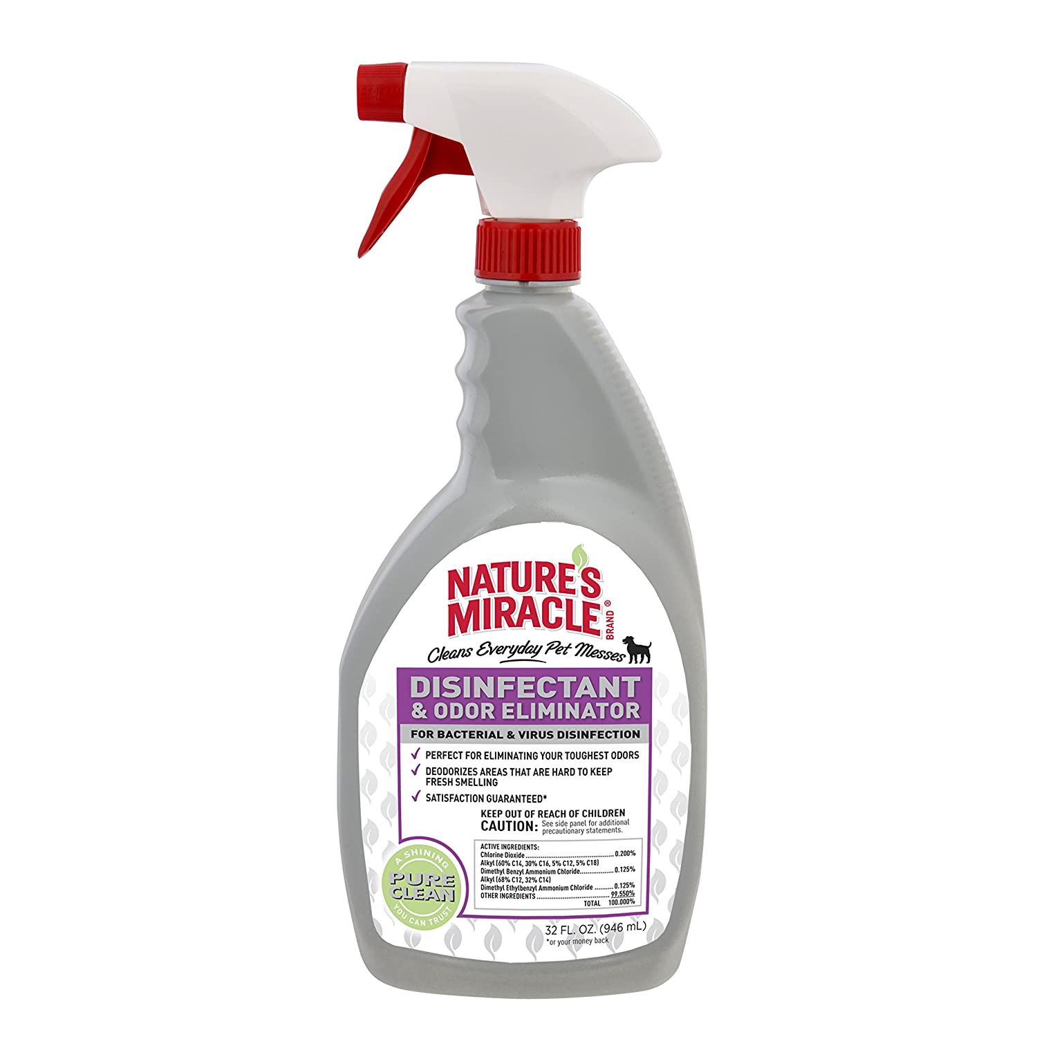 Nature's Miracle NM-5478 Brand Disinfectant Odor Eliminator 32 oz