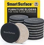 "Smart Surface 8130 Hard Surface Reusable Furniture Felt Moving Sliders 3-1/2"""