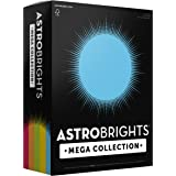 """Astrobrights Mega Collection 320 Sheets, 65 lb/176 gsm,""""Classic"""" 5-Color Assorted Cardstock, 8 ½ x 11 (91630)"""