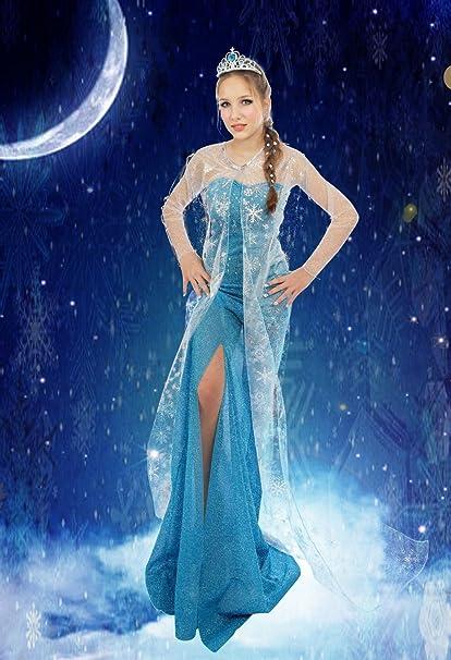Talla de adulto disfraz de princesa Elsa de Frozen Cosplay Fiesta ...
