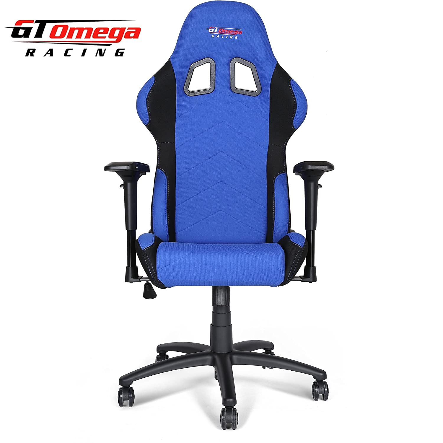 Amazon GT Omega PRO Racing fice Chair Blue and Black Fabric