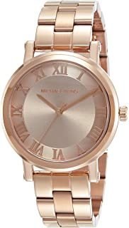 Michael Kors Womens Norie Rose Goldtone Three-Hand Watch