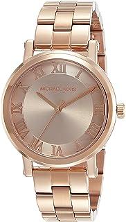Michael Kors Womens Norie Rose Goldtone Three-Hand Watch