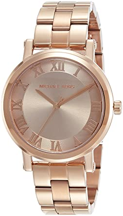12d9f7d96027 Amazon.com  Michael Kors Women s Norie Rose Gold-Tone Watch MK3561 ...