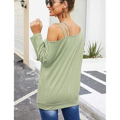 Foooxmart Women Casual Off Shoulder Tops Short Sleeve T Shirts Loose Summer Blouse Shirt