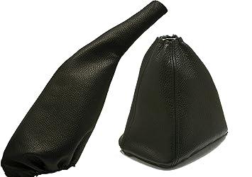 Para SEATTOLEDO Modelos 1991 a 1998 Funda para Palanca de Cambio y Freno 100/% Piel Color Negro