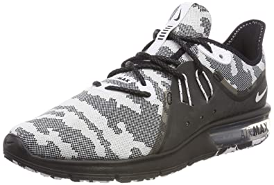 new product d66d4 2fec1 Nike Mens Air Max Sequent 3 Premium Camo Running Shoe Black White Size 10