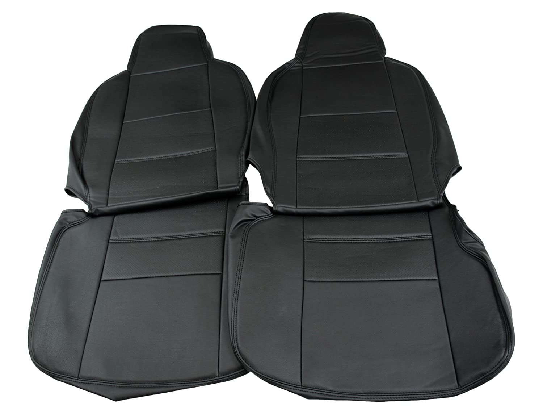 Spiegel シートカバー スバル サンバーバン S321B/S331B (全年式) フロント ブラック B0171HSWP4